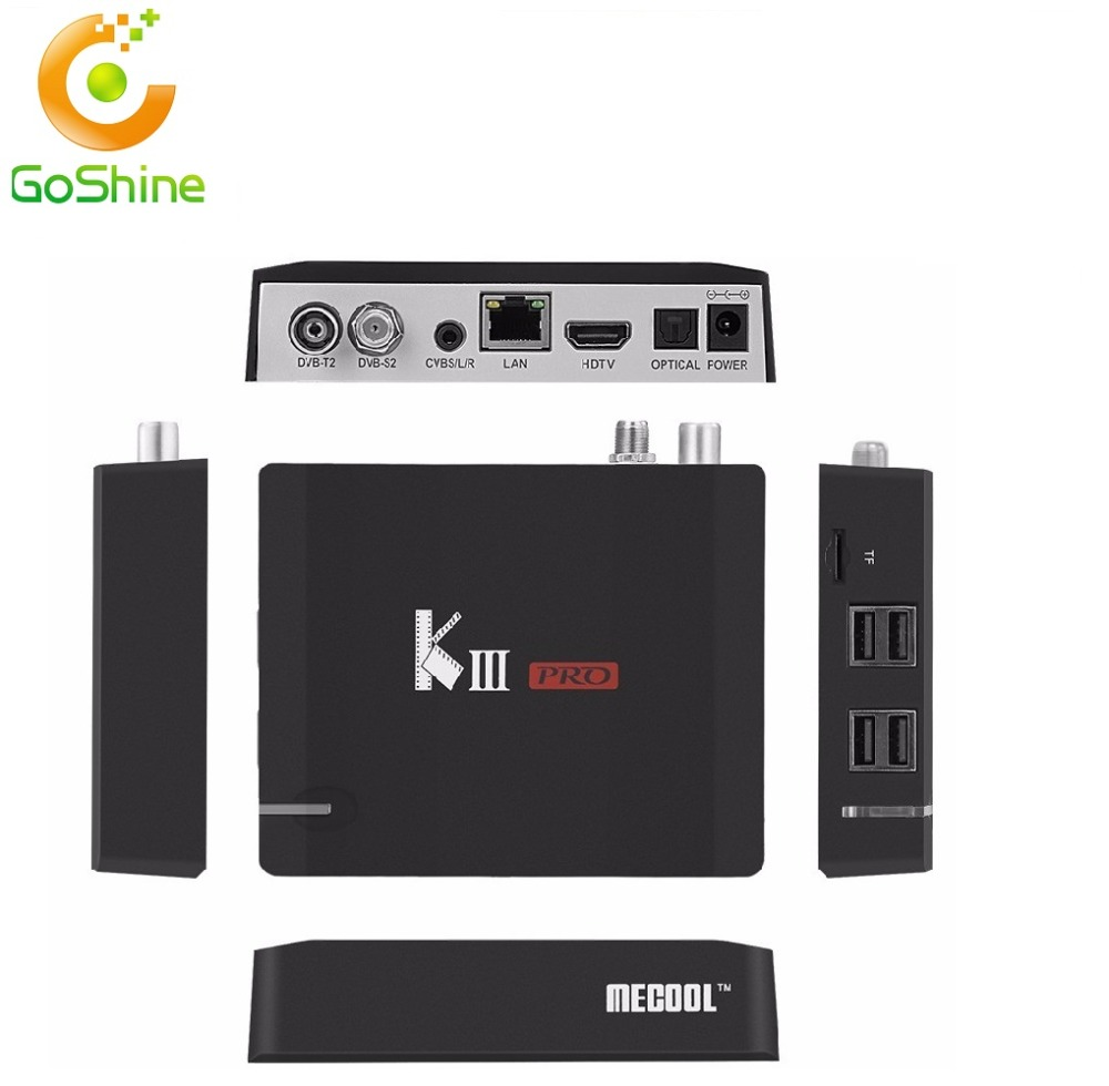 goshine ndroid 6.0 KIII Pro S912 Combo TV box 3G16GB DVB S2 T2 4k satellite receiver