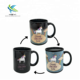 Horse pattern ceramic color changing temperature sensitive magic mugs