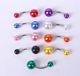 Acrylic plastic navel belly ring