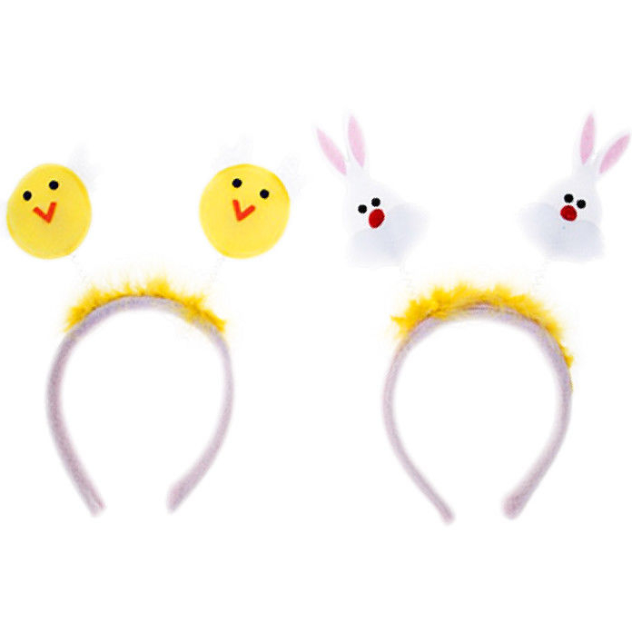 NEW Easter yellow chick deeley bopper headband feathers childrens fancy dress