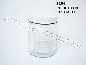 Centerpiece India Glass jar,Glass Jar With Metal Lid for Home Decoration