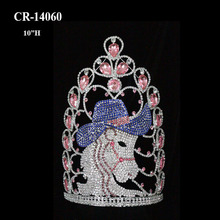New Arrival Rhinestone Custom Cowboy Horse Pageant Crown