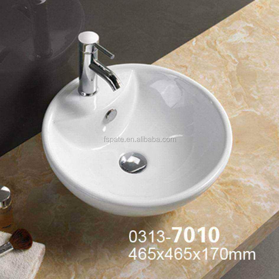 Nouveau Design Salle De Bain Au-dessus Du Comptoir Sanitaire Rond En  Céramique Lavabo Prix - Buy Prix Du Lavabo,Carreaux De Lavabo,Bassin En  Verre ...