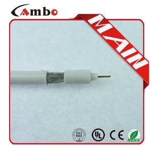 PVC Jacket and Copper Conductor Material coaxial rj6 cable