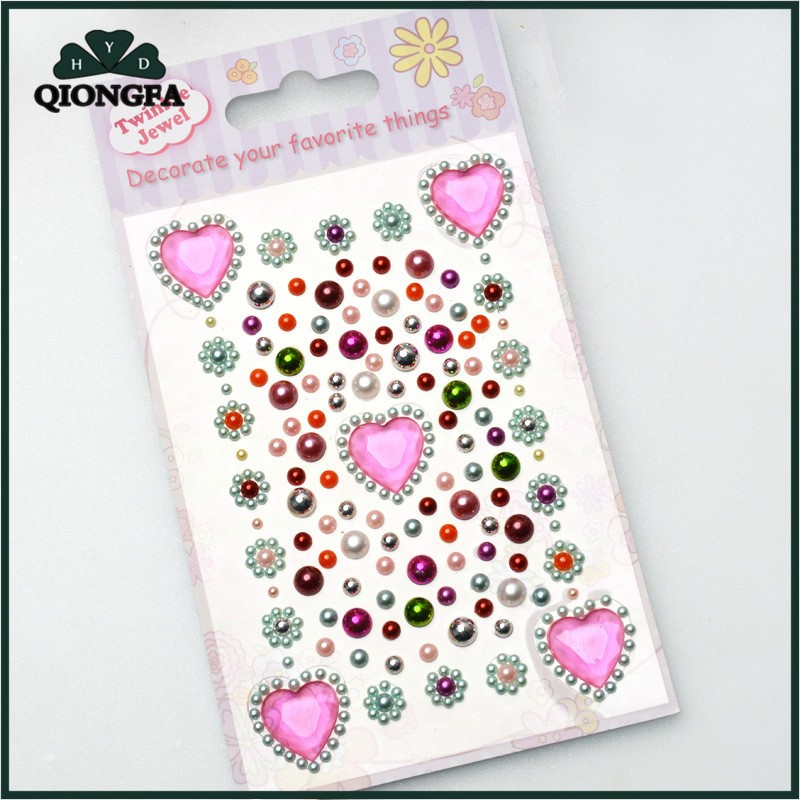 Christmas Diamante Stickers Self Adhesive Gift Wrapping Crystal Decoration Craft