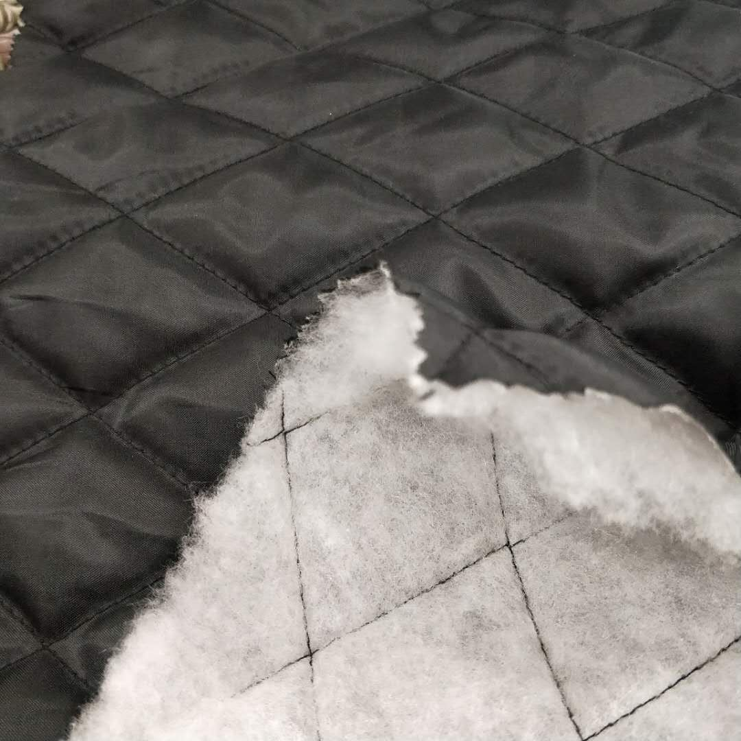 Quilted taffeta fabric