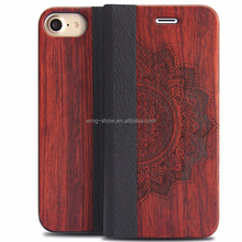 Eco-friendly Manufacturer Wholesale flip wood phone case for iphone 7,spare parts for mobile phones