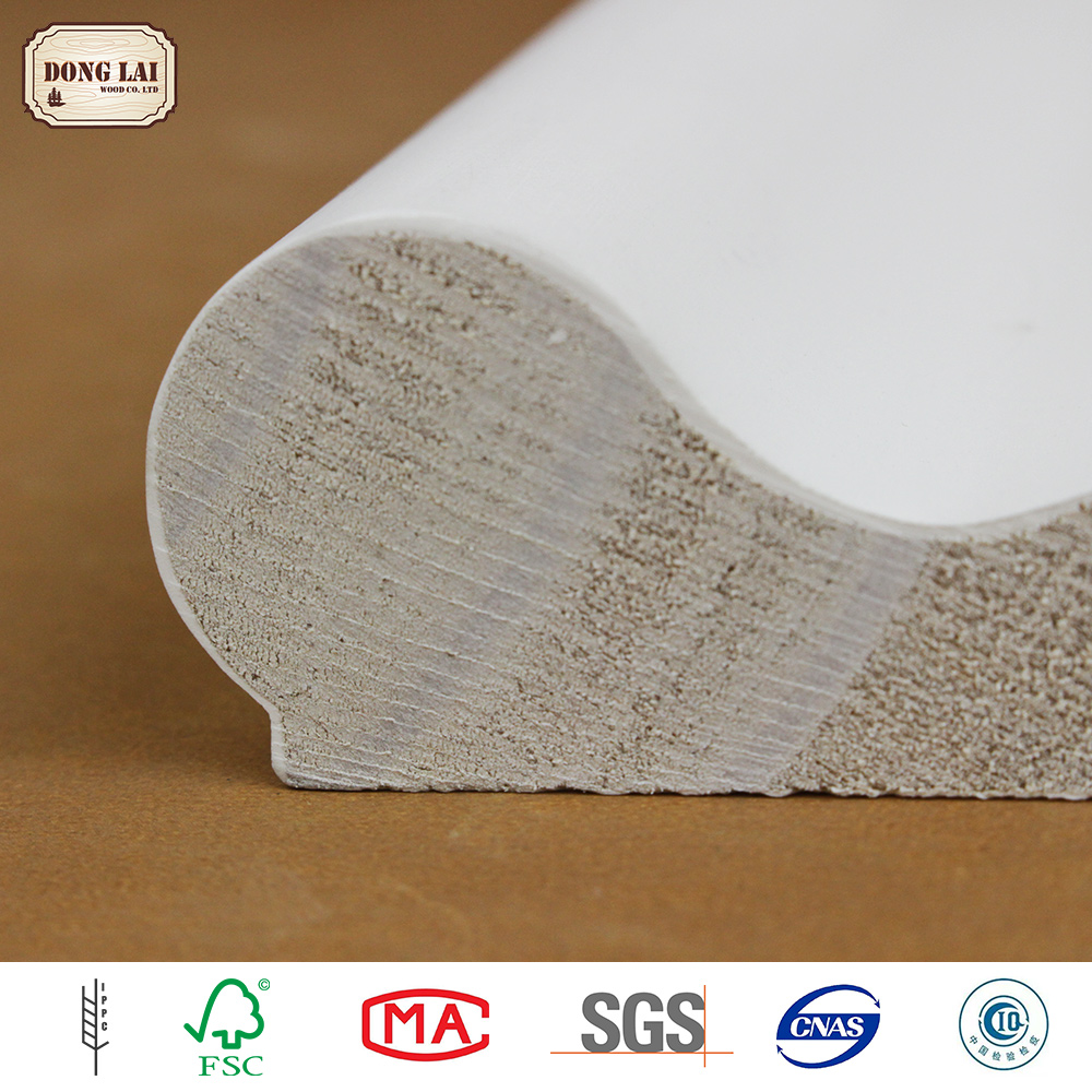 OEM Waterproof chinese supplier pine solid wood wood floor skirting baseboard