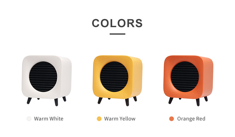 Free Standing 220V Office Bedroom Space Small PTC Heater Fan