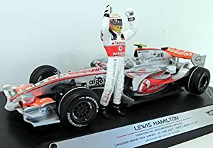 McLaren Mercedes MP4-22 (Lewis Hamilton 1st GP Win 2007) in Silver (1:18 scale) Diecast Model Car