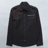 custom casual mens shirts rockabilly gothic clothing punk style dress shirt with pocket