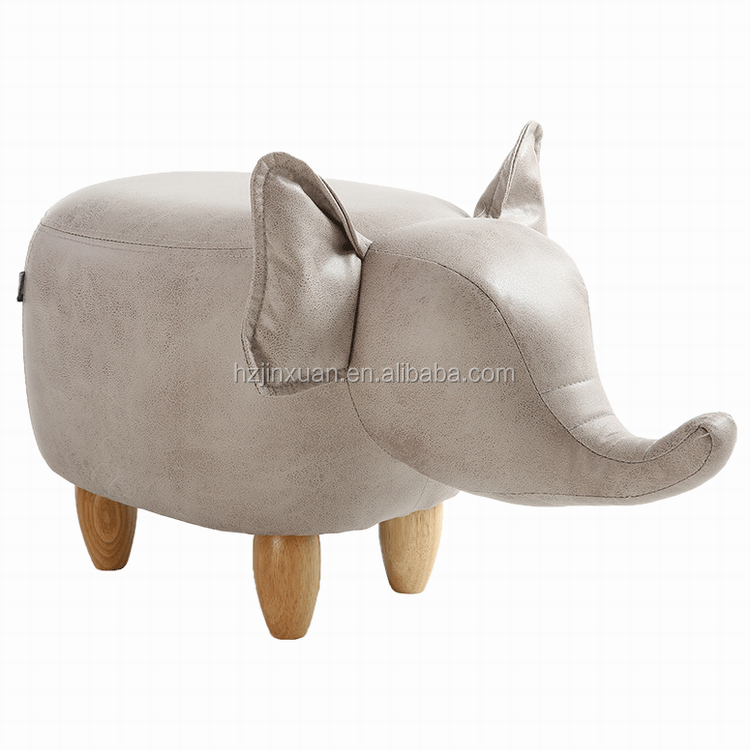 HW1A9458S Hot sale No Folded assorted Natural animal unique cheapest elephant stool elephant ottoman with storage functions