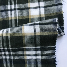 factory 100 cotton yarn dyed woven flannel check twill shirt fabric and lining for garments