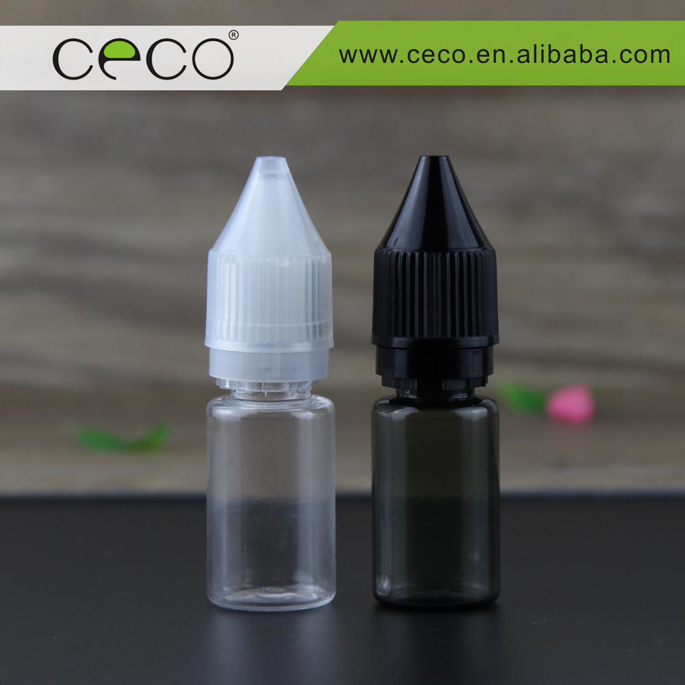 OEM labels and packaging boxes for e juice clear black 10 ml unicorn bottles