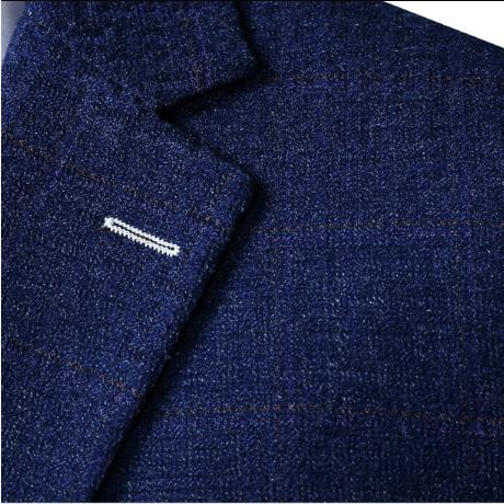 Der Bräutigam Anzug Herrenanzüge Britischen Stil Kultivieren Kleid Blau Anzüge Eine Dreiteilige Buy Herbst Hochzeit Anzüge,Winter Warme