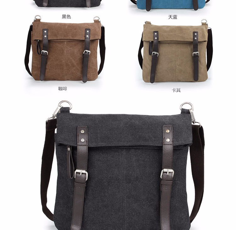19572db4b3 Fancy designer casual canvas shoulder bags men business canvas sling  messenger bag