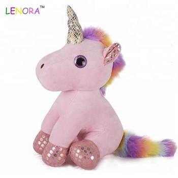 2018 Wholesale Cheap Colorful Unicorn Doll 7 Inch Colorful Unicorn