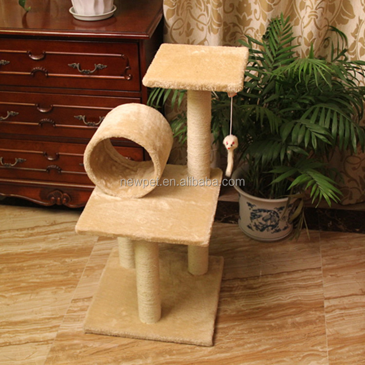Top grade crazy selling climbing scratch sisal cat tree various designs cat scratcher toy