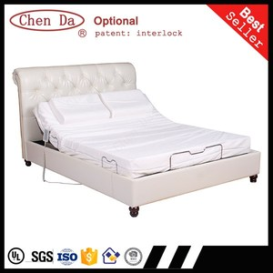 Adjustable massage electric automatic double bed