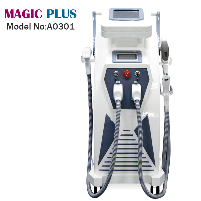 A0301 Professional 4 in 1 Tattoo Laser OPT SHR RF IPL hair removal machine /beauty equipment
