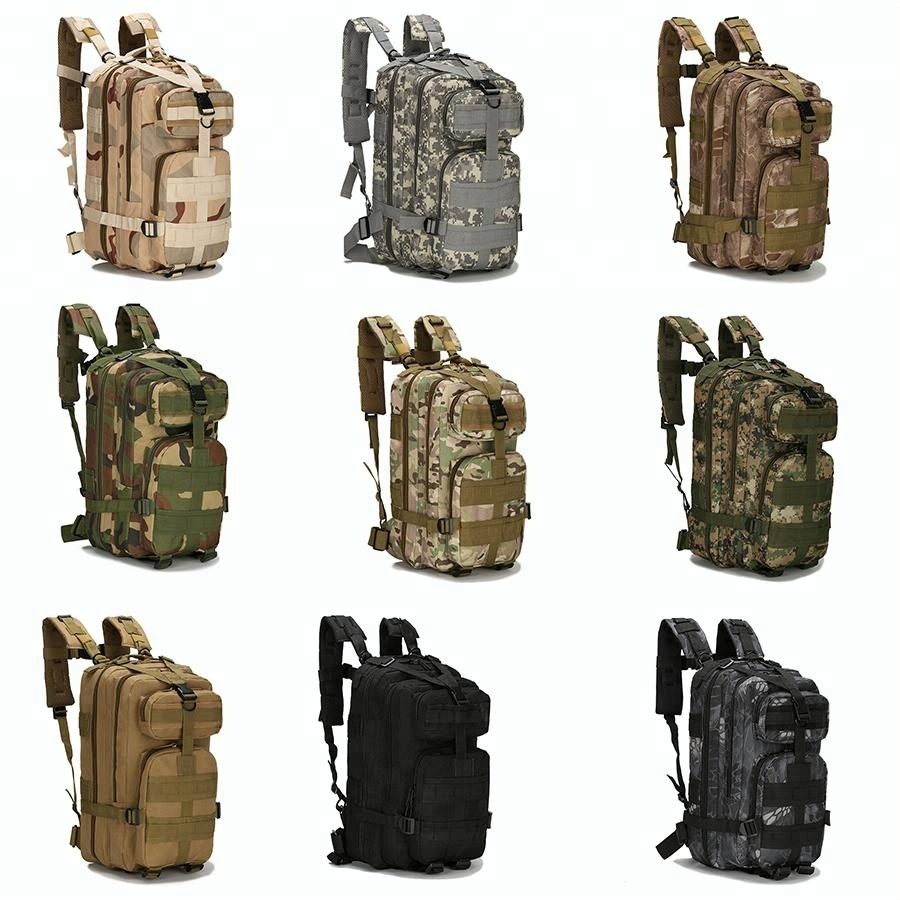 Camouflage Army Camping Bags Outdoor Waterproof 3P Military Tactical Backpack