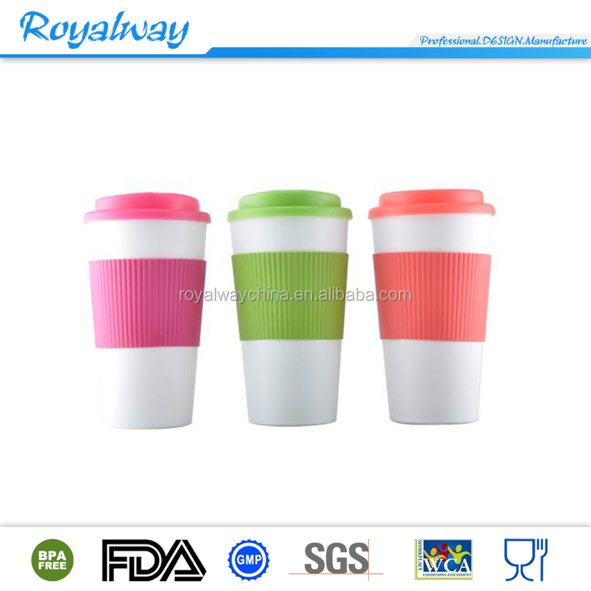 2016 hot sales reusable 16oz plastic coffee cups classic coffee cup tumbler