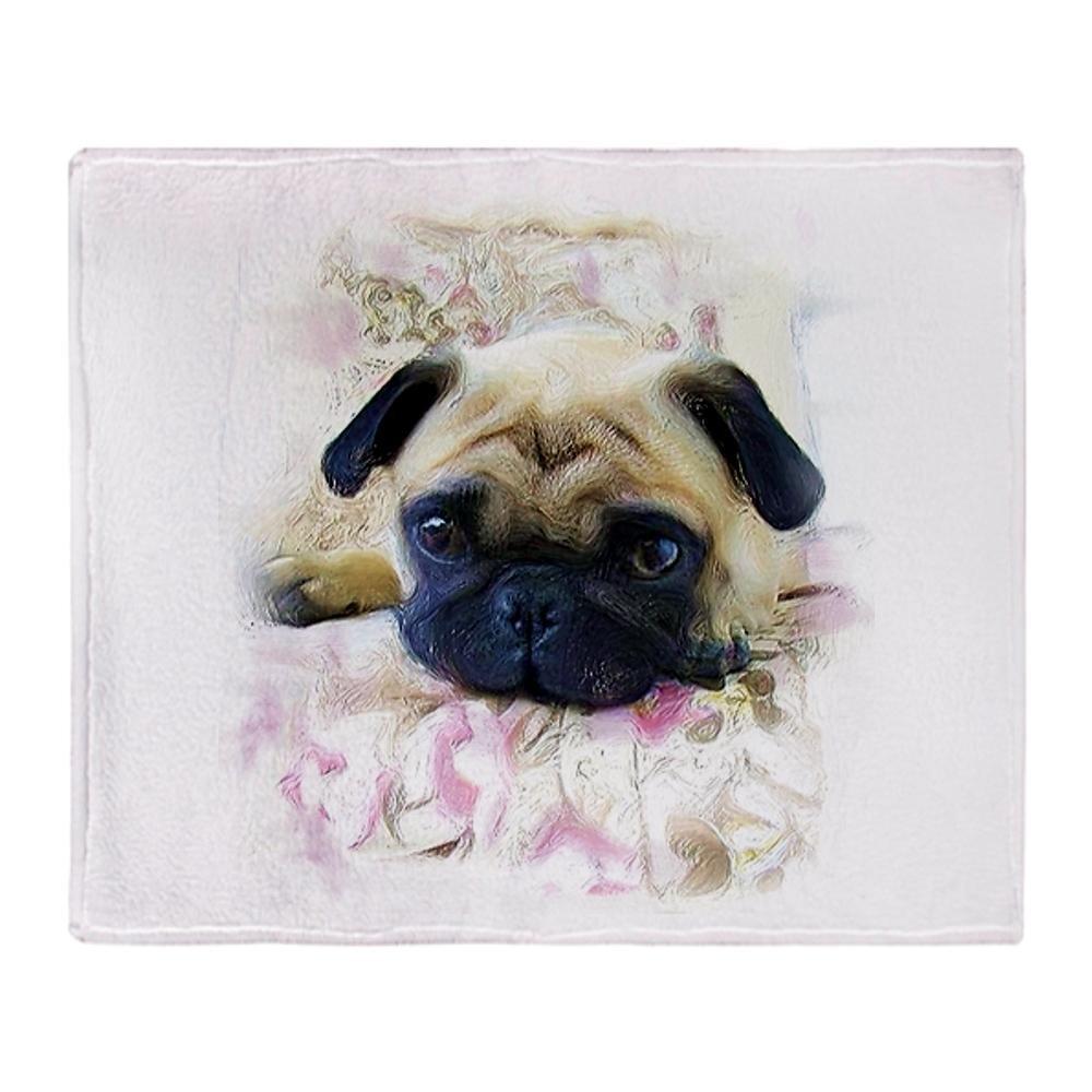 "CafePress - Pug Dog Throw Blanket - Soft Fleece Throw Blanket, 50""x60"" Stadium Blanket"