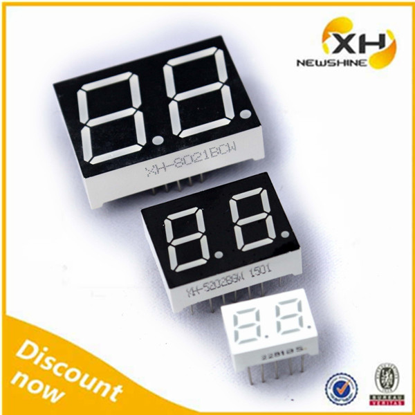 High Brightness Blue Color DIP FND NEWSHINE 7-Segment LED Display 2 Digit 4021
