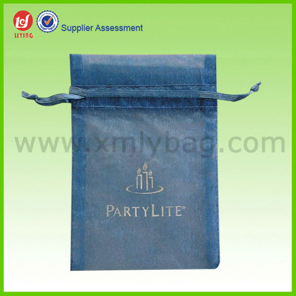Hot Sale Sheer Mesh Drawstring Net Gift Bags with Company Logo