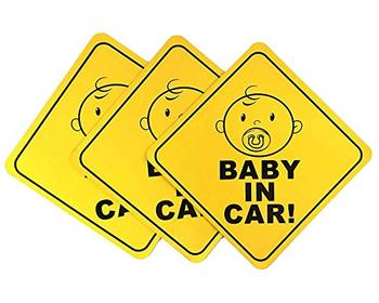 Logo Printing Baby on Car Safety Sticker Waterproof Warning Label Sticker Sheet