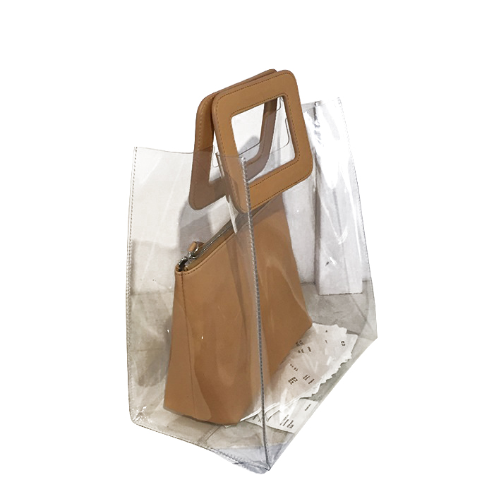 trending products 2019 high quality fashion transparent clear pvc handbags with professional women
