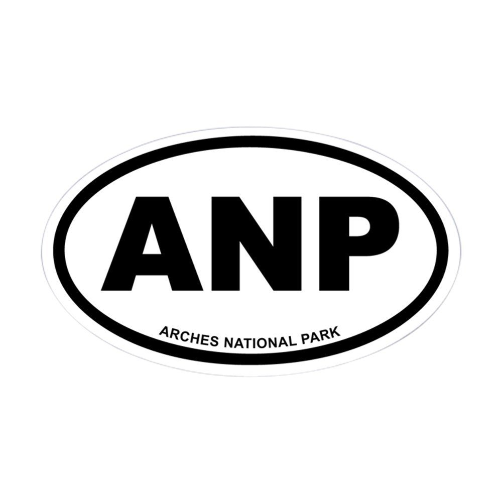 CafePress - Arches National Park Euro Oval Sticker - Oval Bumper Sticker, Euro Oval Car Decal