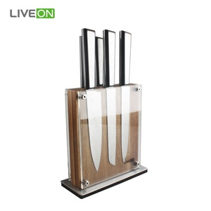5pcs Kitchen Knife Set with Magnetic Wood Block