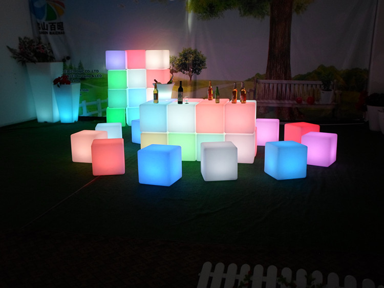 event table acrylic cube, remote control plastic cube bar