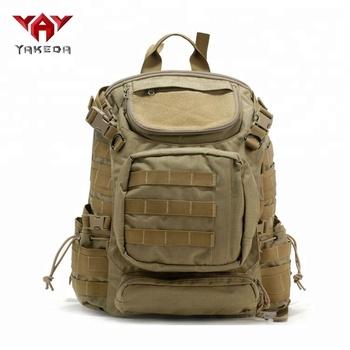 Yakeda 1000d Nylon Waterproof Military Laptop Backpack Tactical Bag