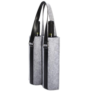 Wine Carrier Wool Felt Bar Water Bottle Champagne Bottles Bag Travel Tote Case Holder Organizer