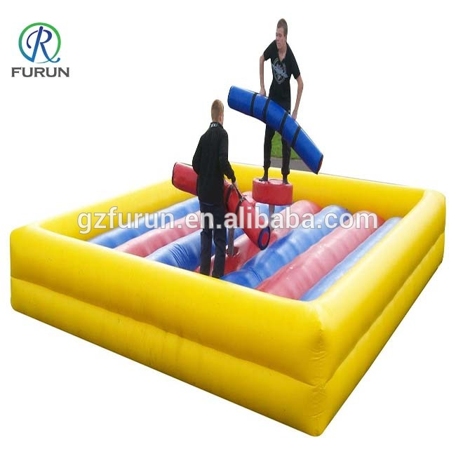 Backyard pedestal gladiator jousting inflatable jousting ring arena, gladiator dueling interactive challenge game for sale