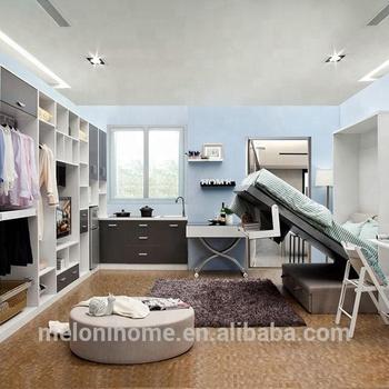 E Saving Furniture Sofa Bed Wall Mount Folding Table For Mini House