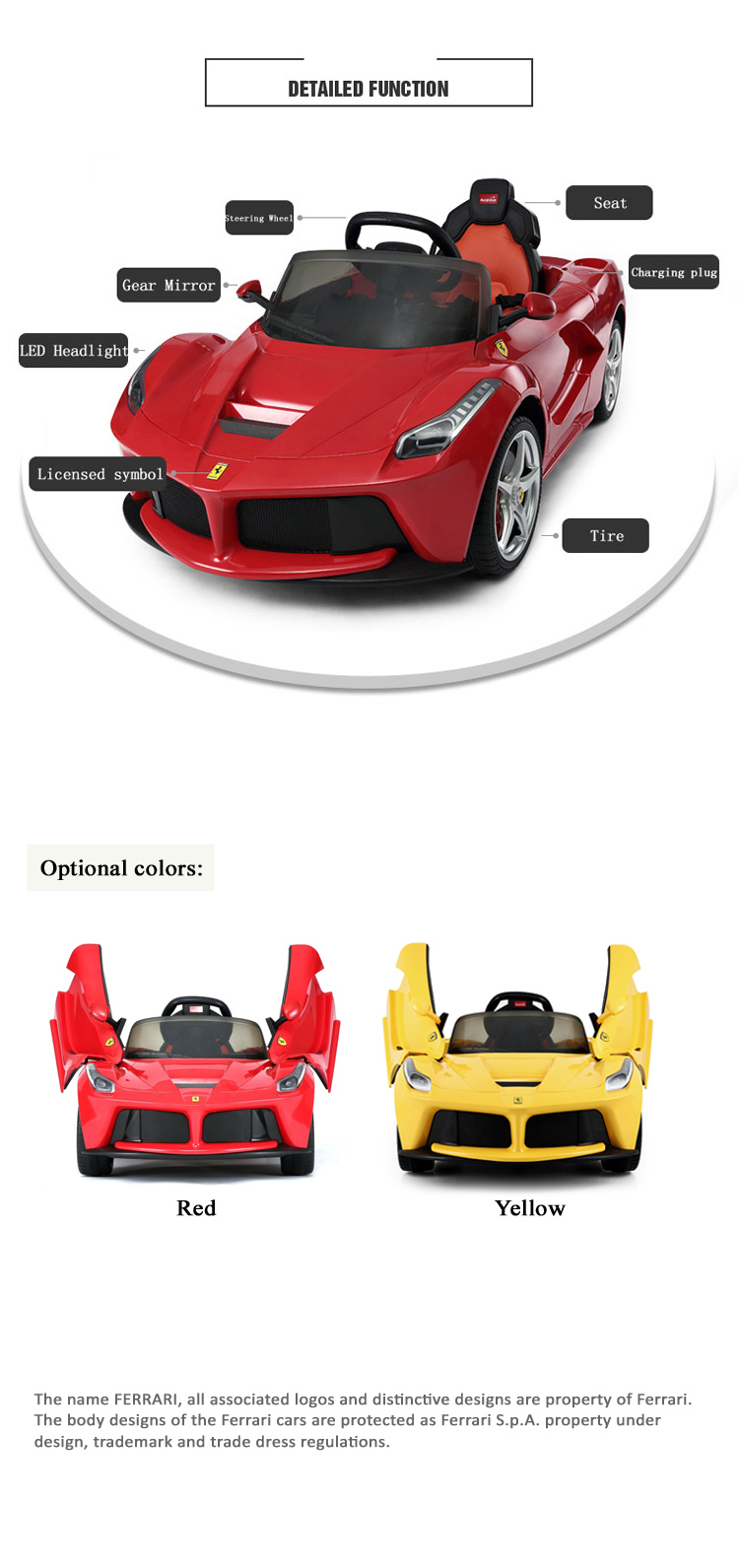 Rastar newest licesned 12volt electric car toy ferrari laferrari rastar newest licesned 12volt electric car toy ferrari laferrari ride on car toy buycottarizona
