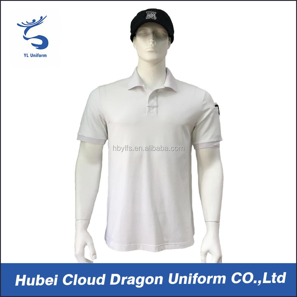 Cheap Security Guard Polo Shirts Oem Service White Uniform Polo