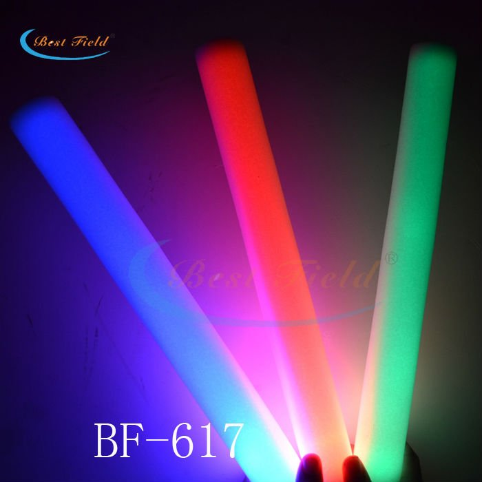 customized purple 4.5*40cm Solid clor LED glow stick batons