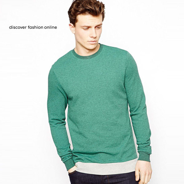 Crew Neck Sweatshirt Pullover Plain Sweatshirt Without Hood