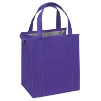 Fashion Quilted Aluminium Foil Grocery Foods Insulated Tote Bag Cooler
