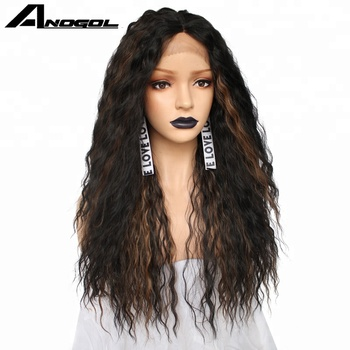 Anogol Futura Wig Synthetic Lace Front Wigs Curly Wig