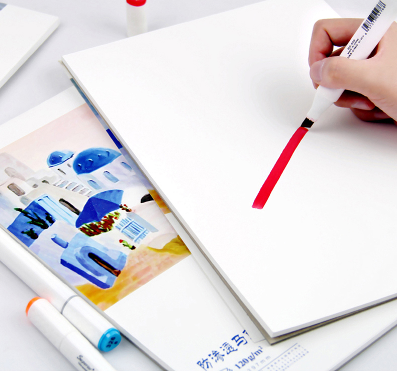 Professional layout markr pen paper notebook