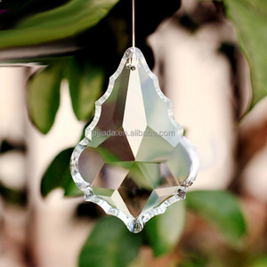 Clear glass crystal maple leaf Chandelier prism Parts decoration lamp light hanging pendant accessories with crystal light