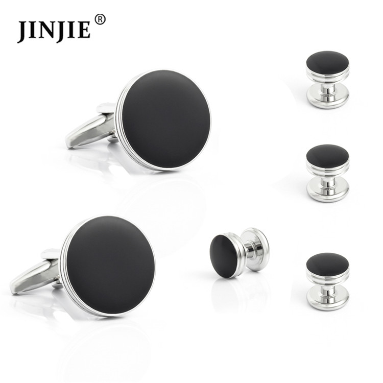 Soft Enamel Cufflinks and Studs Set for Tuxedo Shirts фото