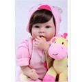 Silicone Lifelike Baby Doll Reborn Babies Bonecas Toys for Girls Birthday Gift 20 Inch Realistic Reborn