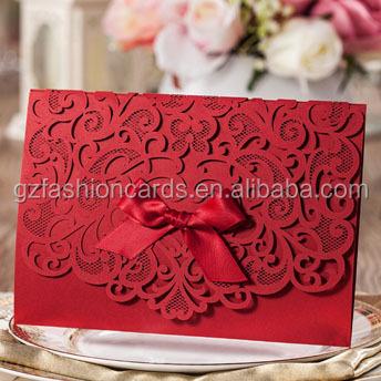 Boxed Ideas Custom Handmde Lace Vietnamese Wedding Cards With - Wedding invitation templates: vietnamese wedding invitation template