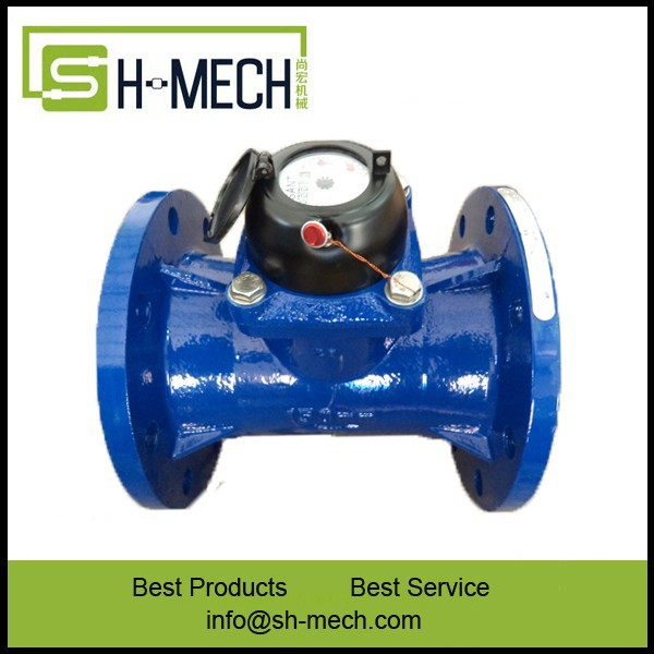 Digital removable water flow meter ductile iron body